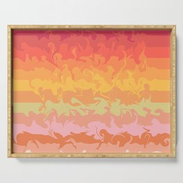 PASTEL WAVES Serving Tray