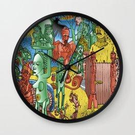 through open doors Wall Clock