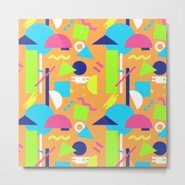 Postmodern Sea ll in Neon 90's Metal Print