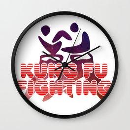 Kung Fu Fighting Wall Clock