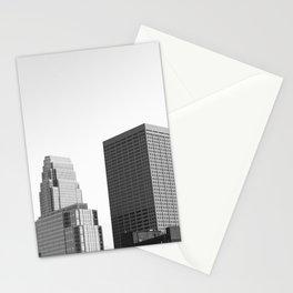 Minneapolis Minnesota Black and White Skyline Stationery Cards