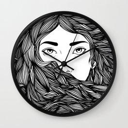 Flowing hair Wall Clock