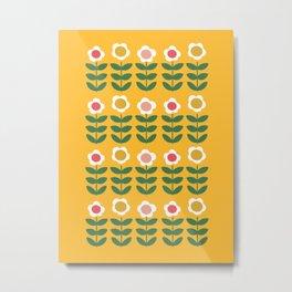 Pyrex Flowers Metal Print
