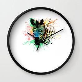 Zebra Face Head  Wall Clock