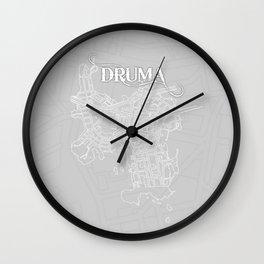 DRUMA Grey Wall Clock