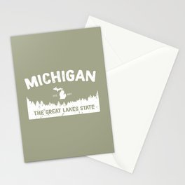 Michigan, The Great Lakes State Stationery Cards