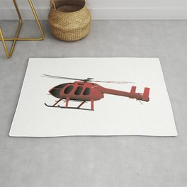 Light Red Helicopter Rug