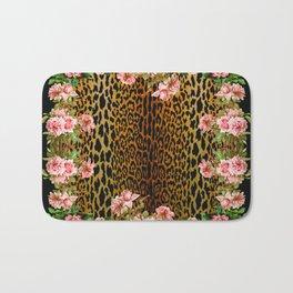 Rose around the Leopard Bath Mat