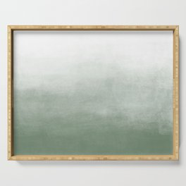 Ombre Paint Color Wash (sage green/white) Serving Tray