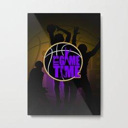 It's Game Time - Purple & Gold Metal Print
