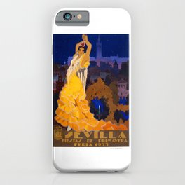 Spain 1933 Seville April Fair Travel Poster iPhone Case