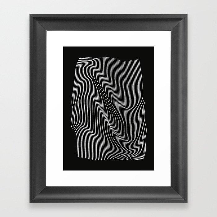 Minimal curves black Gerahmter Kunstdruck