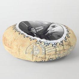 Titacnic`s traveller Floor Pillow