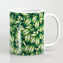 Green leaves design elements.  Coffee Mug
