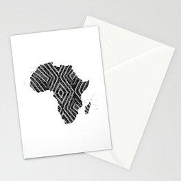 Africa in Dark Grey Stationery Cards