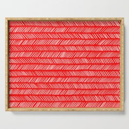 Scarlet Small Herringbone 1 Serving Tray