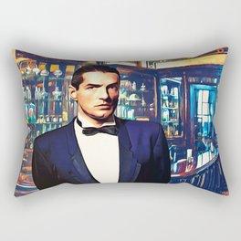 Falco at the Cafe Rectangular Pillow