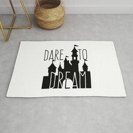 Dare to Dream Fantasy Castle Silhouette Rug