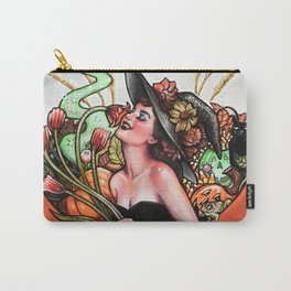 Halloween on the Brain Witch Carry-All Pouch