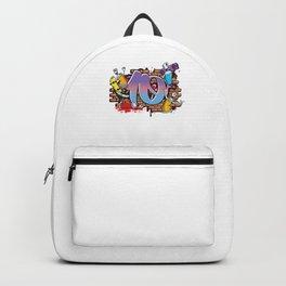 Hiphop Dancer Graffiti Artist Typography 10th Birthday Hip Hop Urban Wall Mural Street Art Backpack