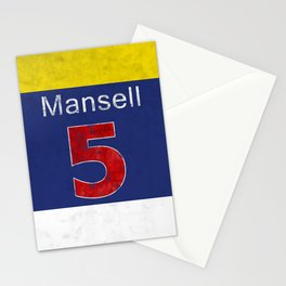Mansell Red 5 Stationery Cards
