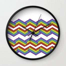 Classic Rainbow Ribbon Wall Clock