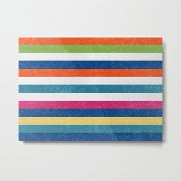 Summer happy stripes Metal Print