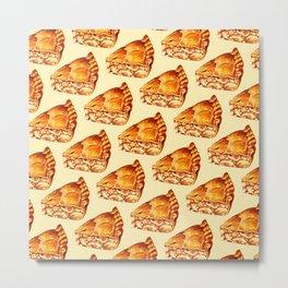 Apple Pie Pattern Metal Print