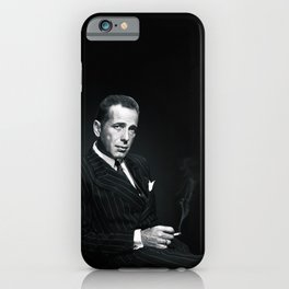 The whole world is three drinks late (Humphrey Bogar) iPhone Case