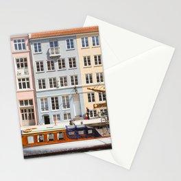 Copenhagen Pastel Nyhavn houses and boat | Scandi Stationery Cards