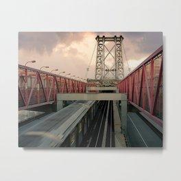 New York City Subway Crosses the Bridge Metal Print