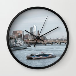 London River Thames Landscape Wall Clock