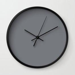Simply Solid - Steel Grey Wall Clock