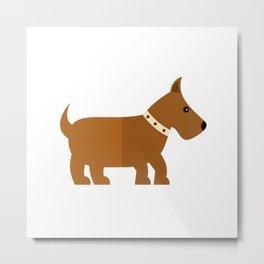 Fox terrier on white Metal Print