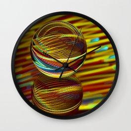 Golden Ball Wall Clock