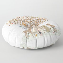 the little oak tree Floor Pillow