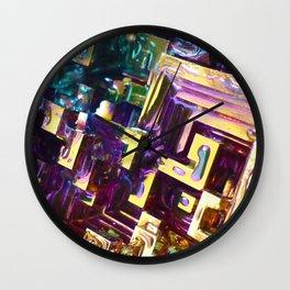 Purple Bismuth Wall Clock