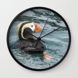 Tufted Puffin Wall Clock
