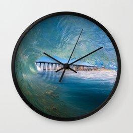 Rosarito Beach Baja Mexico Pier Wall Clock