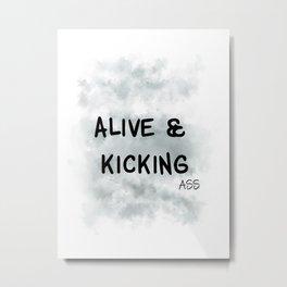 Alive and Kicking (achro) Metal Print