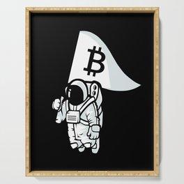 Bitcoin Astronaut Serving Tray