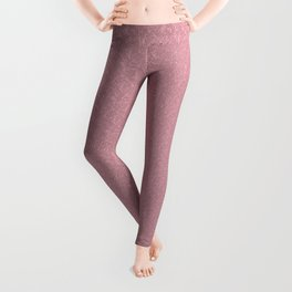 monochrome delicate  pink pattern with smaller structural Leggings