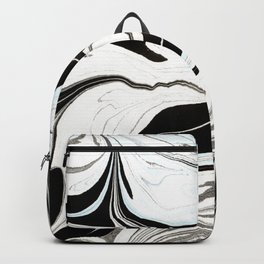 Marbled Blue and Black II Backpack