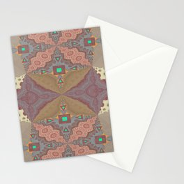 Pallid Minty Pattern 6 Stationery Cards