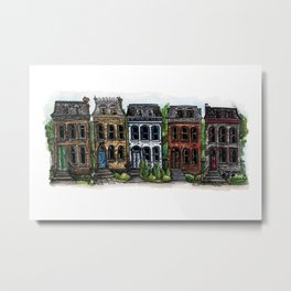 Pretty Row Ladies Metal Print
