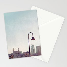 Minneapolis Minnesota Skyline at the Stone Arch Bridge Stationery Cards
