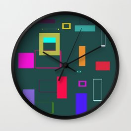 Squares and Rectangles Wall Clock