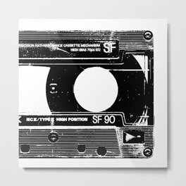 Old Cassette Metal Print