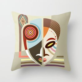 Maskermorphosis Throw Pillow