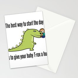 Baby T-Rex Hug Dinosaur Fan Gift Stationery Cards